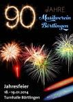 Jahresfeier 90 Jahre Musikverein Börtlingen am 18. und 19. Jan. 2014 in der Turnhalle Börtlingen