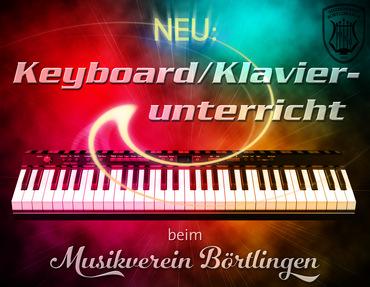 Keyboard-/Klavierunterricht beim MV Börtlingen