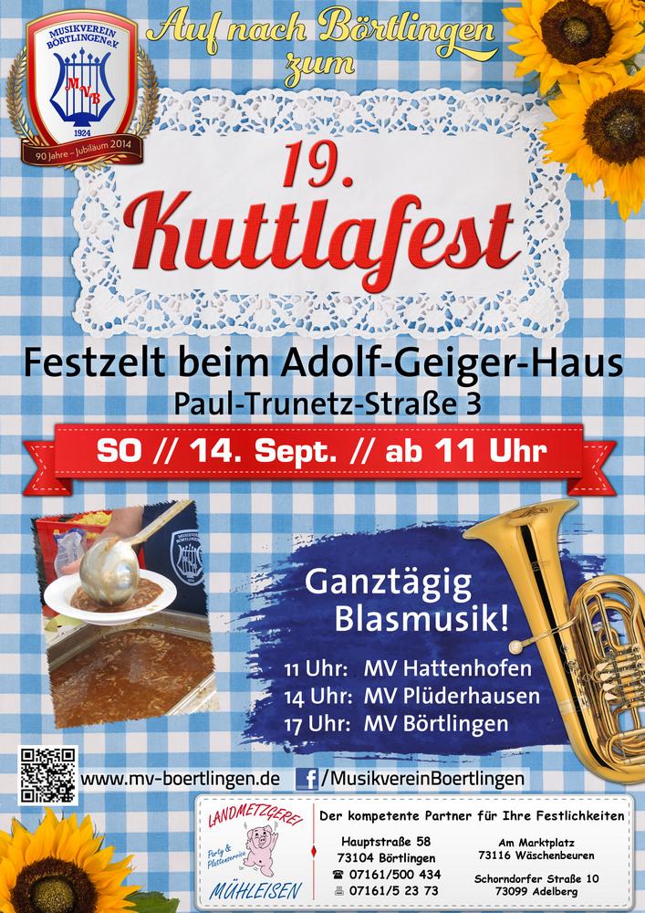 19. Kuttlafest des Musikvereins Börtlingen am 14. Sept. 2014