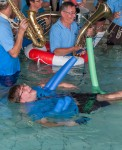 'Cold Water Challenge' des MV Börtlingen am 27. Juli 2014 im Lehrschwimmbad Börtlingen
