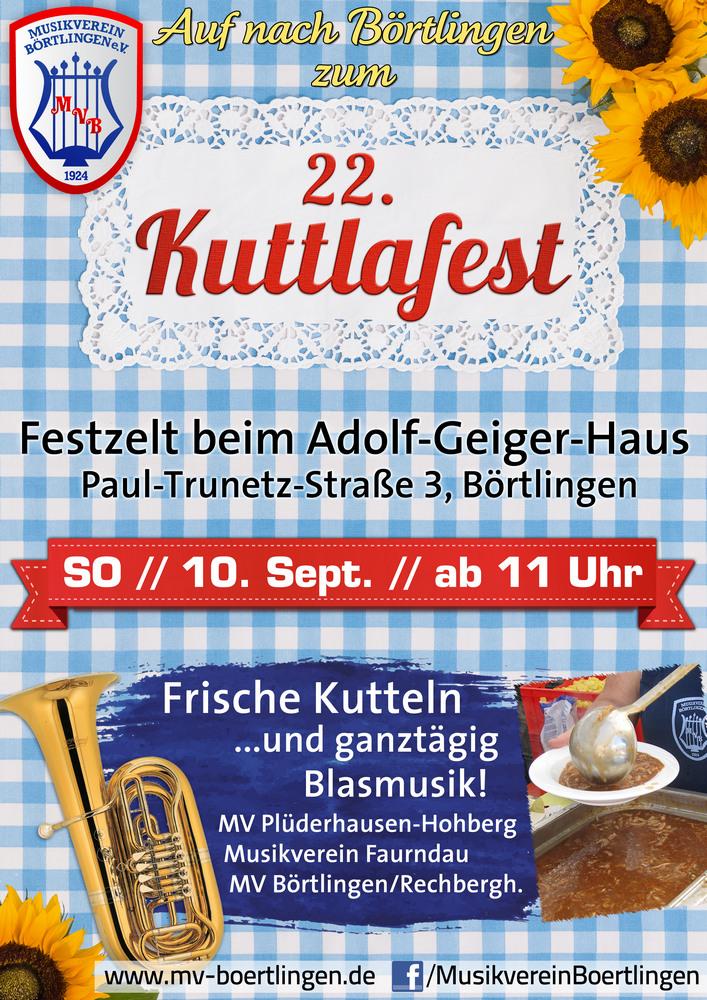 22. Kuttlafest des Musikvereins Börtlingen am 10. Sept. 2017