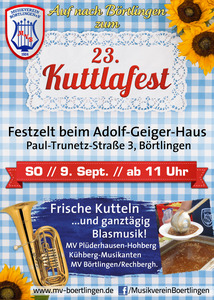 23. Kuttlafest des MV Börtlingen am 9. Sept. 2018