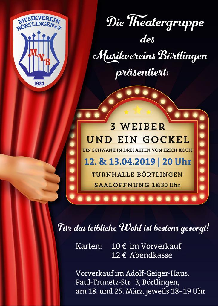 Theaterabend des MV Börtlingen am 12. und 13.04.2019