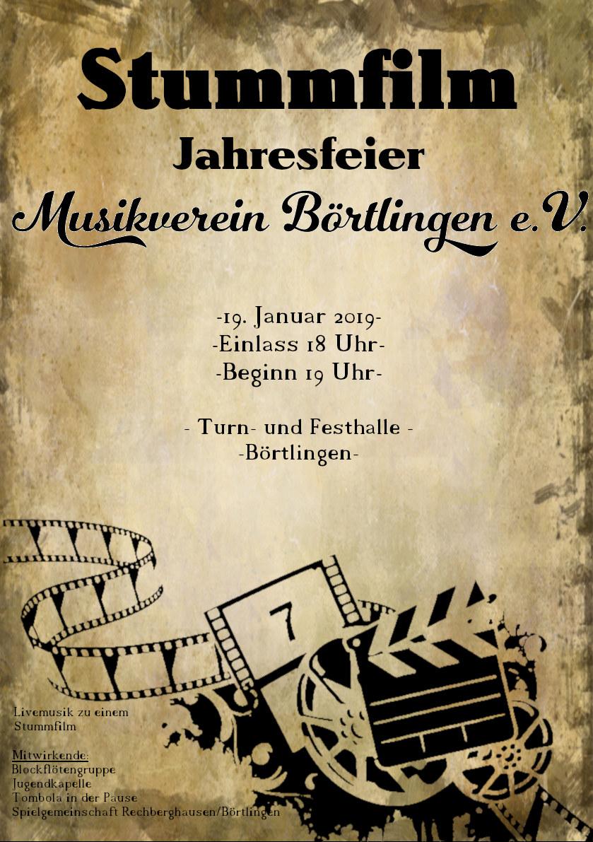 Stummfilm – Jahresfeier 2019 MV Börtlingen