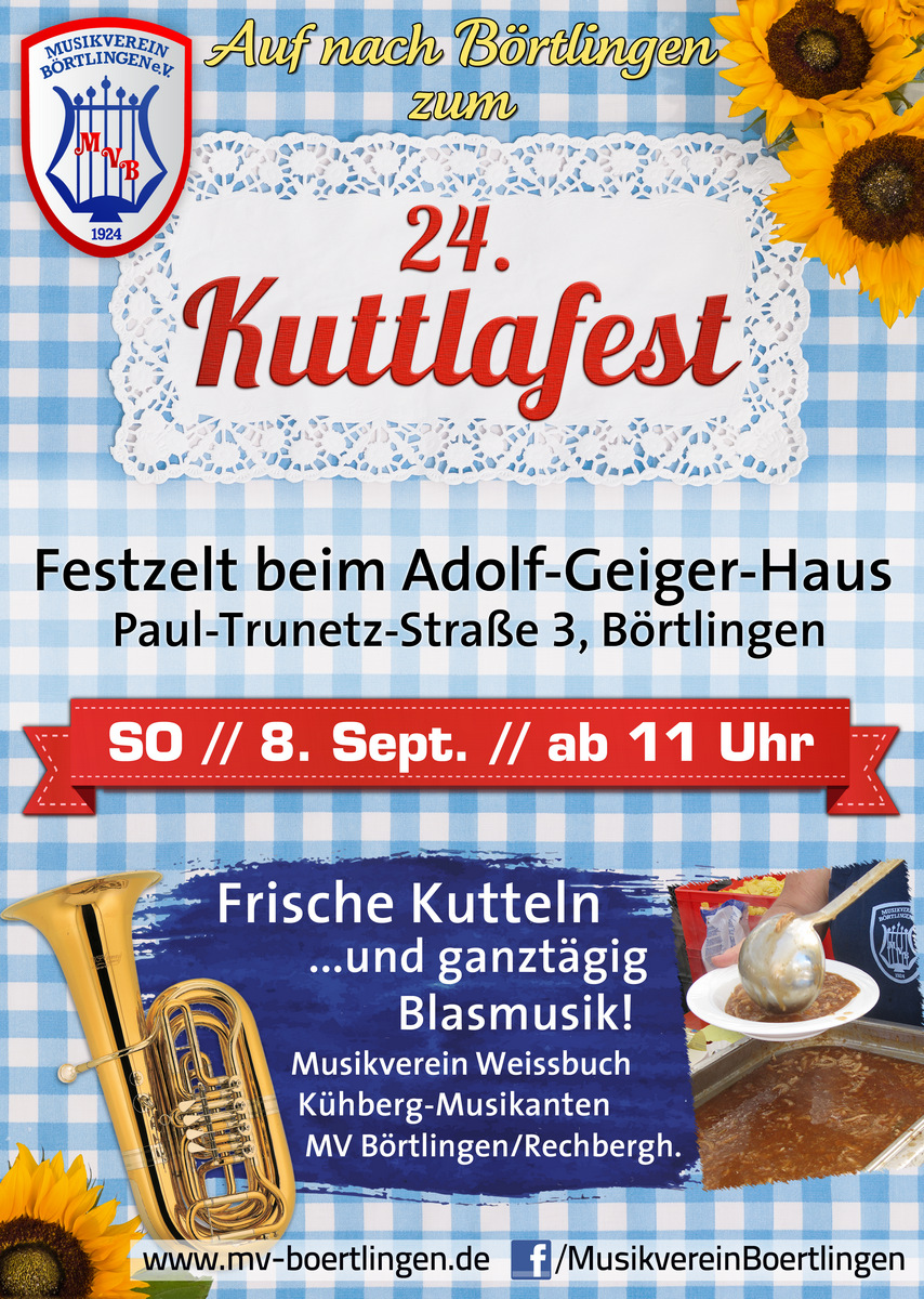 24. Kuttlafest des MV Börtlingen am 8. Sept. 2019