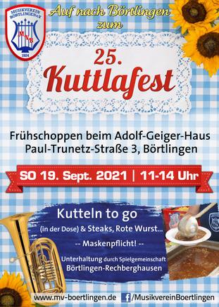 18. Kuttlafest am 7. & 8. September im Festzelt beim Adolf-Geiger-Haus, Paul-Trunetz-Str. 3, Börtlingen
